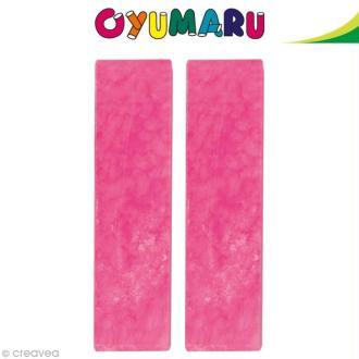 Pâte Oyumaru Rose x 2 bâtonnets