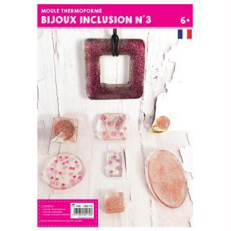 Moule plastique pour inclusion de bijoux x16