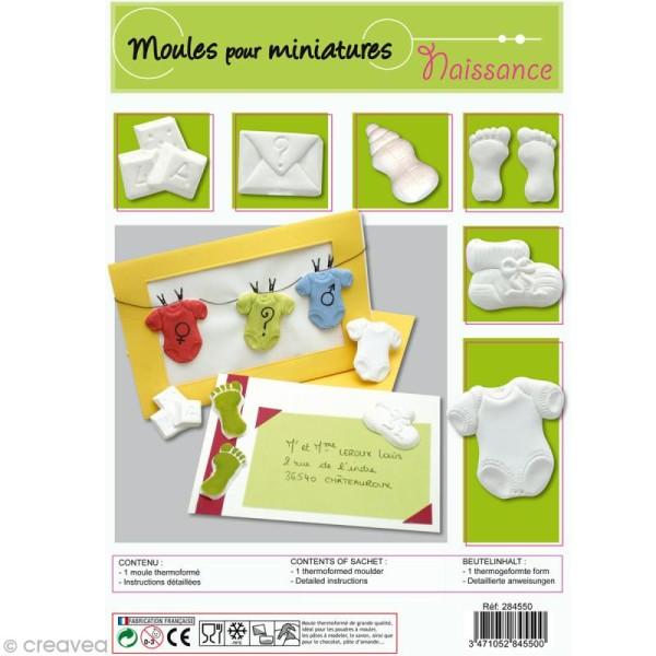 Moule plastique Miniature de naissance x6 - Photo n°1