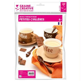 Moule plastique Cuillère en chocolat x8