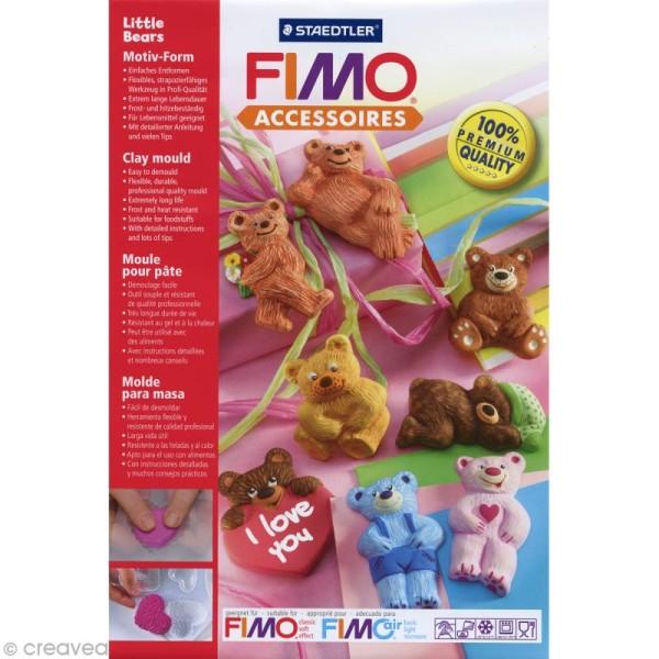 Moule pour FIMO Ourson x 8 - Photo n°1