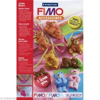 Moule pour FIMO Ourson x 8