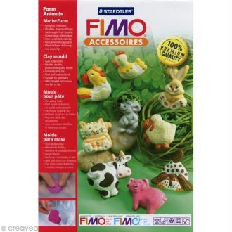 Moule pour FIMO Animaux de la ferme x 9