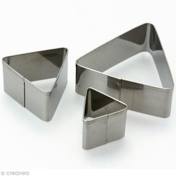 Emporte pièce inox Triangle x 3 - Photo n°1