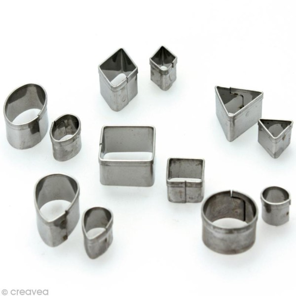 Emporte pièce miniature en métal x12 - Photo n°1