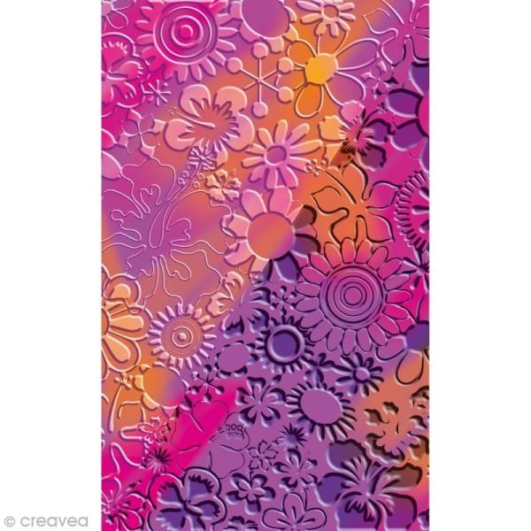 Plaque de texture Fleurs 20,5 x 13,5 cm - Photo n°2