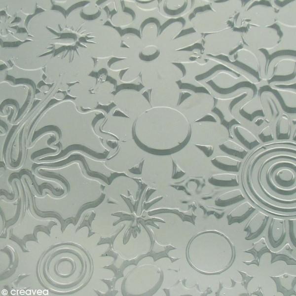 Plaque de texture Fleurs 20,5 x 13,5 cm - Photo n°3
