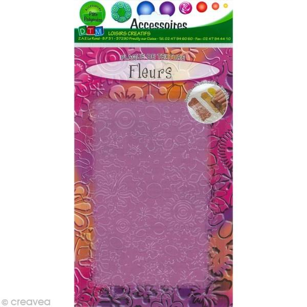Plaque de texture Fleurs 20,5 x 13,5 cm - Photo n°1
