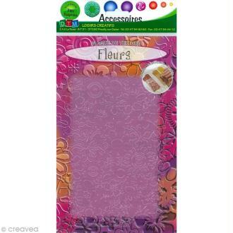Plaque de texture Fleurs 20,5 x 13,5 cm