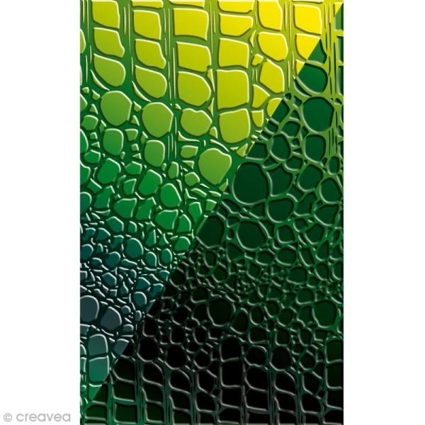 Plaque de texture Croco 20,5 x 13,5 cm - Photo n°2