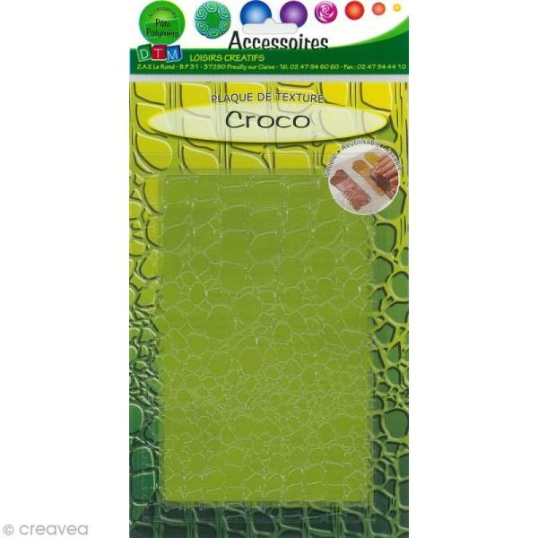 Plaque de texture Croco 20,5 x 13,5 cm - Photo n°1