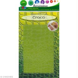 Plaque de texture Croco 20,5 x 13,5 cm