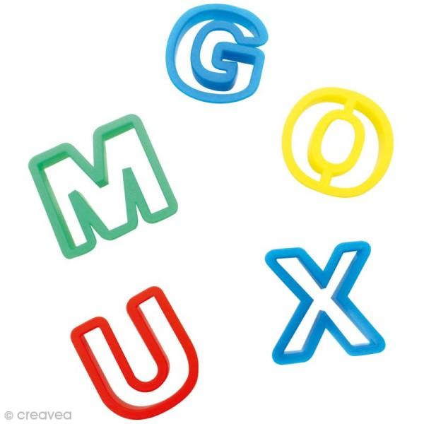 Emporte pièce à pâte à modeler - alphabet x26 - Photo n°1