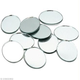 Miroir ovale 20 x 25 mm x10