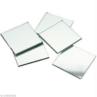 Miroir carré 3 x 3 cm - 5 pcs