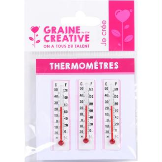 Thermomètre à décorer 5,5 cm x3