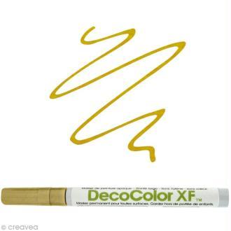 Marqueur peinture pointe fine Or Deco Color XF
