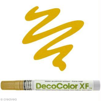 Marqueur peinture pointe large Or Deco Color XF