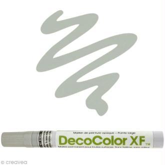 Marqueur peinture pointe large Argent Deco Color XF
