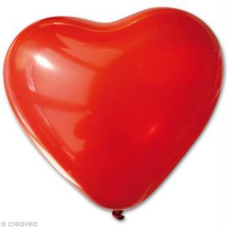 Ballon coeur Rouge 25 cm x 10