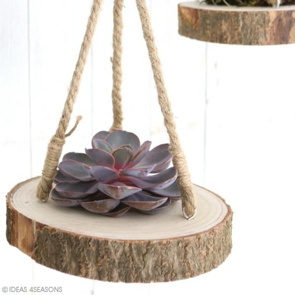 Rondin de bois à suspendre - 4 x 25 cm - Photo n°3
