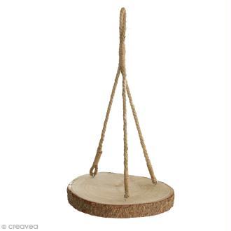 Rondin de bois à suspendre - 4 x 32 cm