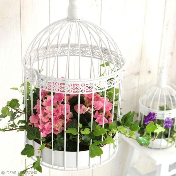 Set de cages décoratives en fer - Blanc - 2 pcs - Photo n°2