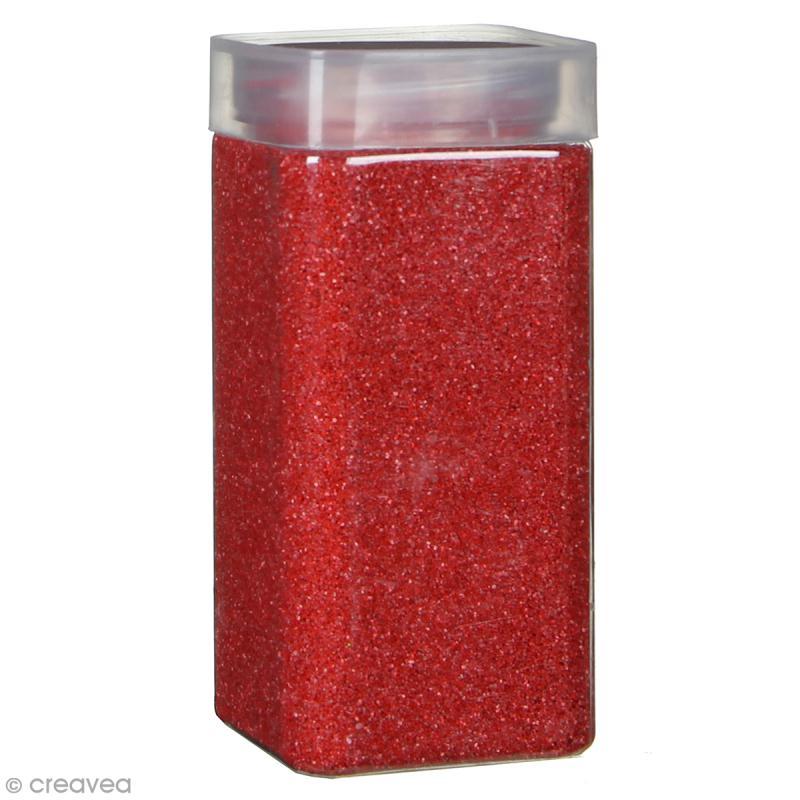 Sable décoratif - Rouge groseille - 740 g - Photo n°1