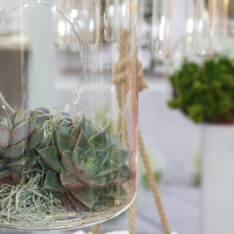 Vase ouvert à suspendre - 25 x 14 cm - Photo n°4