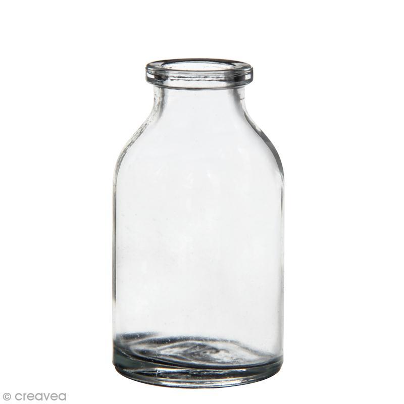 Assortiment de 50 mini bouteilles en verre - 6,5 x 3,5 cm - Photo n°1