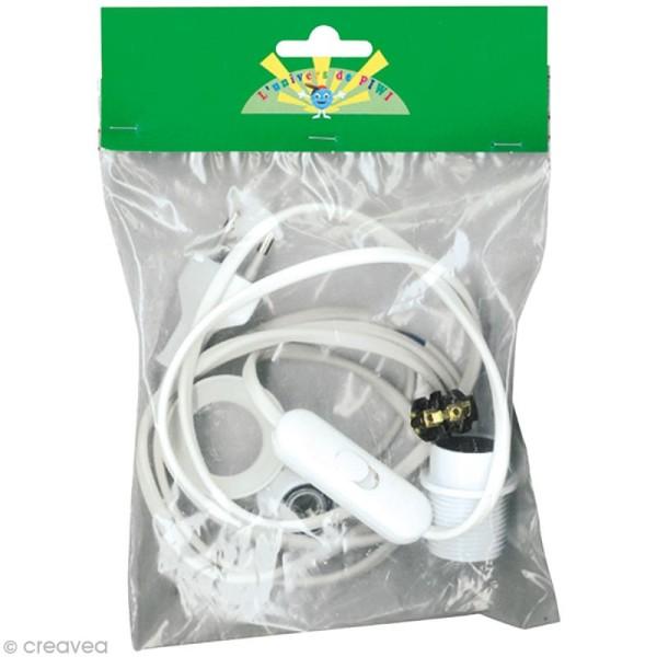 Kit électrique blanc pour lampe E14 - Photo n°1