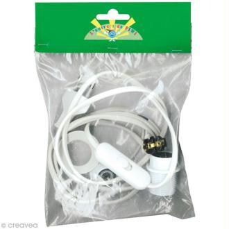 Kit électrique blanc pour lampe E14