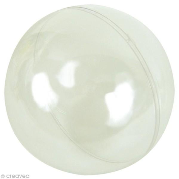 Boule plastique transparente 20 cm géante - Photo n°1