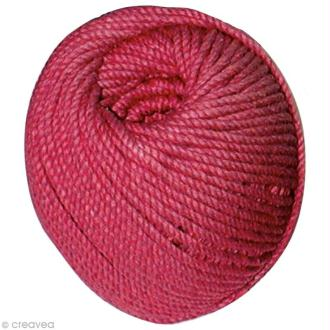 Coton câblé Rouge 2,5 mm - 50 mètres