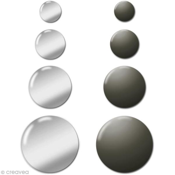Motif strass thermocollant Rond en métal Duo Argenté x 176 - Photo n°1