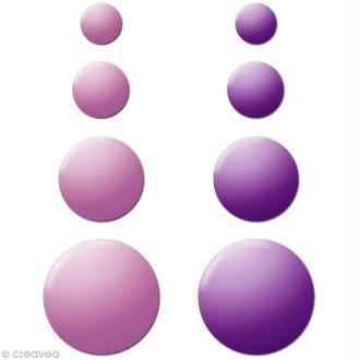 Motif strass thermocollant Rond en métal Duo Violet x 176