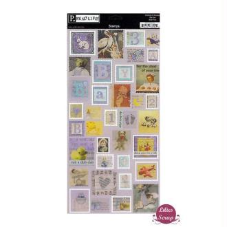 Stickers timbres bébé  Pebbles Inc 31 x 15 cm scrapbooking