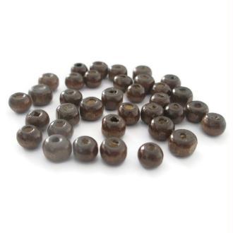100 Perles En Bois Marron  Foncé6mm