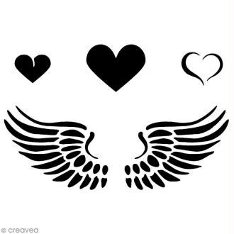 Pochoir adhésif pour customisation Coeur