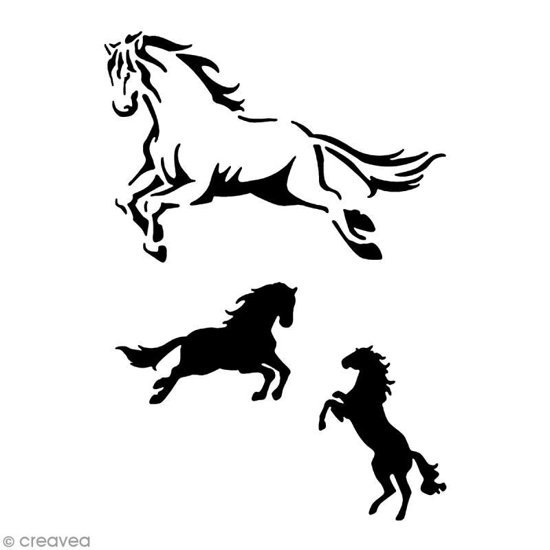 pochoir adh sif pour customisation cheval pochoir pour tatouage creavea. Black Bedroom Furniture Sets. Home Design Ideas