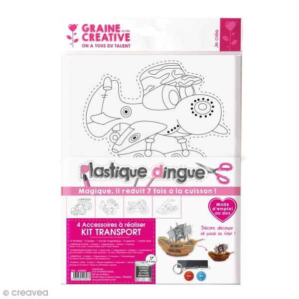Kit créatif plastique dingue - Transport - Photo n°1