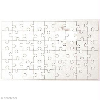 Puzzle en carton blanc à colorier 54 pièces