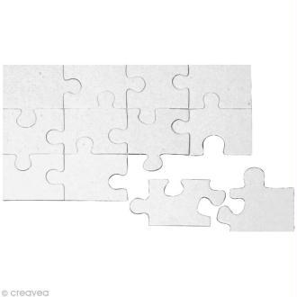 Puzzle en carton blanc à colorier 12 pièces