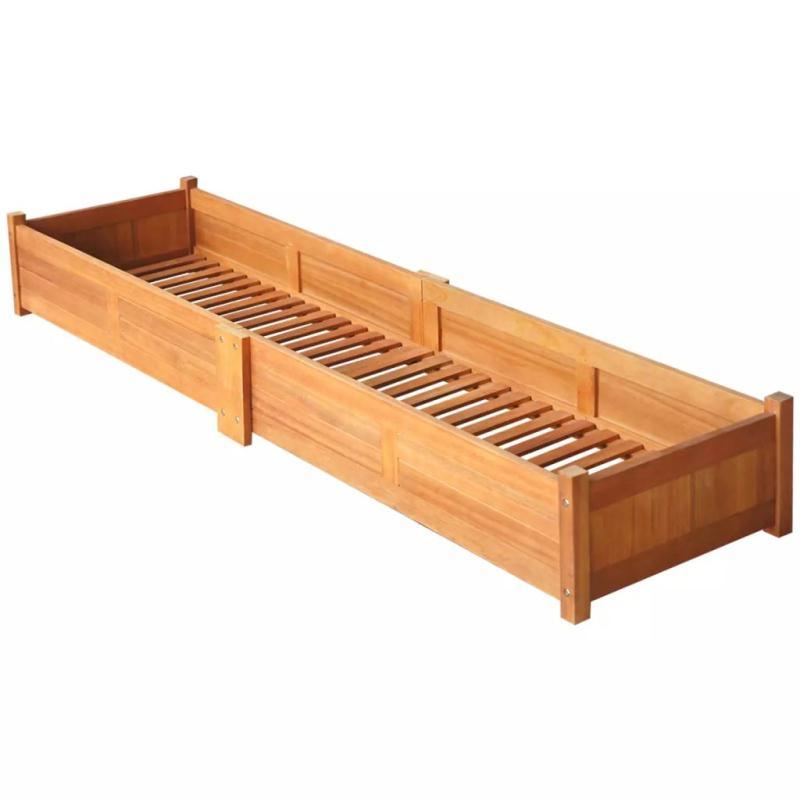 Vidaxl jardini re bois d 39 acacia 200 x 50 x 25 cm pots et for Bois acacia exterieur