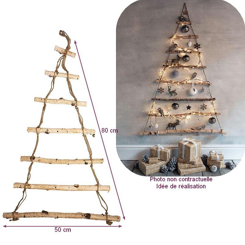 En bois brut forme sapin dim 80 x 50 cm a decorer et suspendre - Sapin en carton a decorer ...