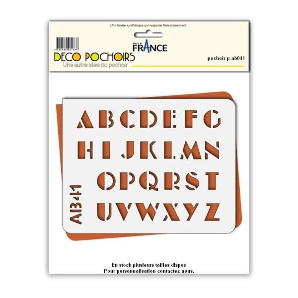Pochoir lettres majuscules - Photo n°1