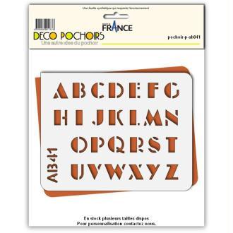 Pochoir lettres majuscules