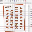 Pochoir lettres majuscules - Photo n°2
