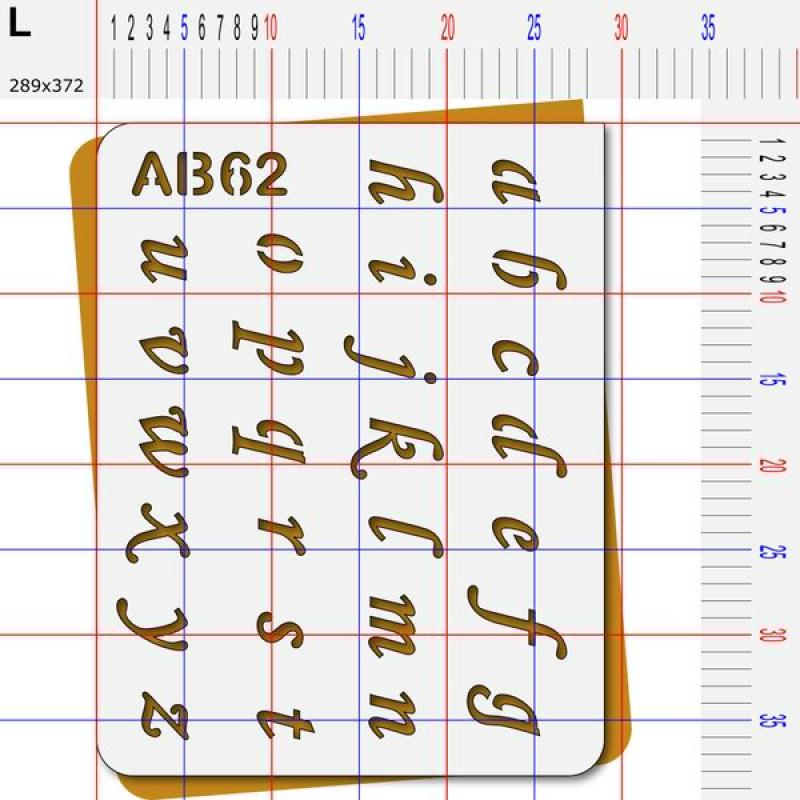 Pochoir lettres minuscules - Photo n°5