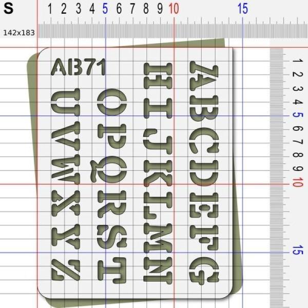 Pochoir lettres majuscules - Photo n°3